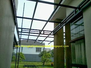 contoh pekerjaan canopi minimalis