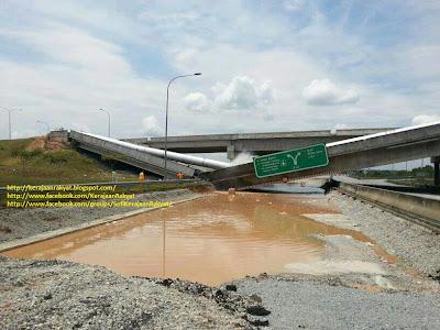 jejambat Selangor Science Park 2 Interchange, Cyberjaya runtuh