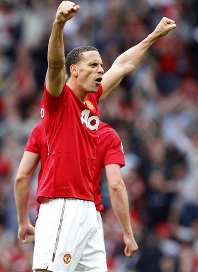 Rio Ferdinand Celebration Goal Manchester United 2011-2012