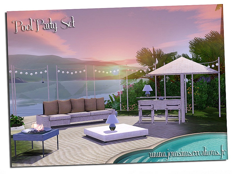 My Sims 3 Blog Pool Party Outdoor Living Set By JomSims