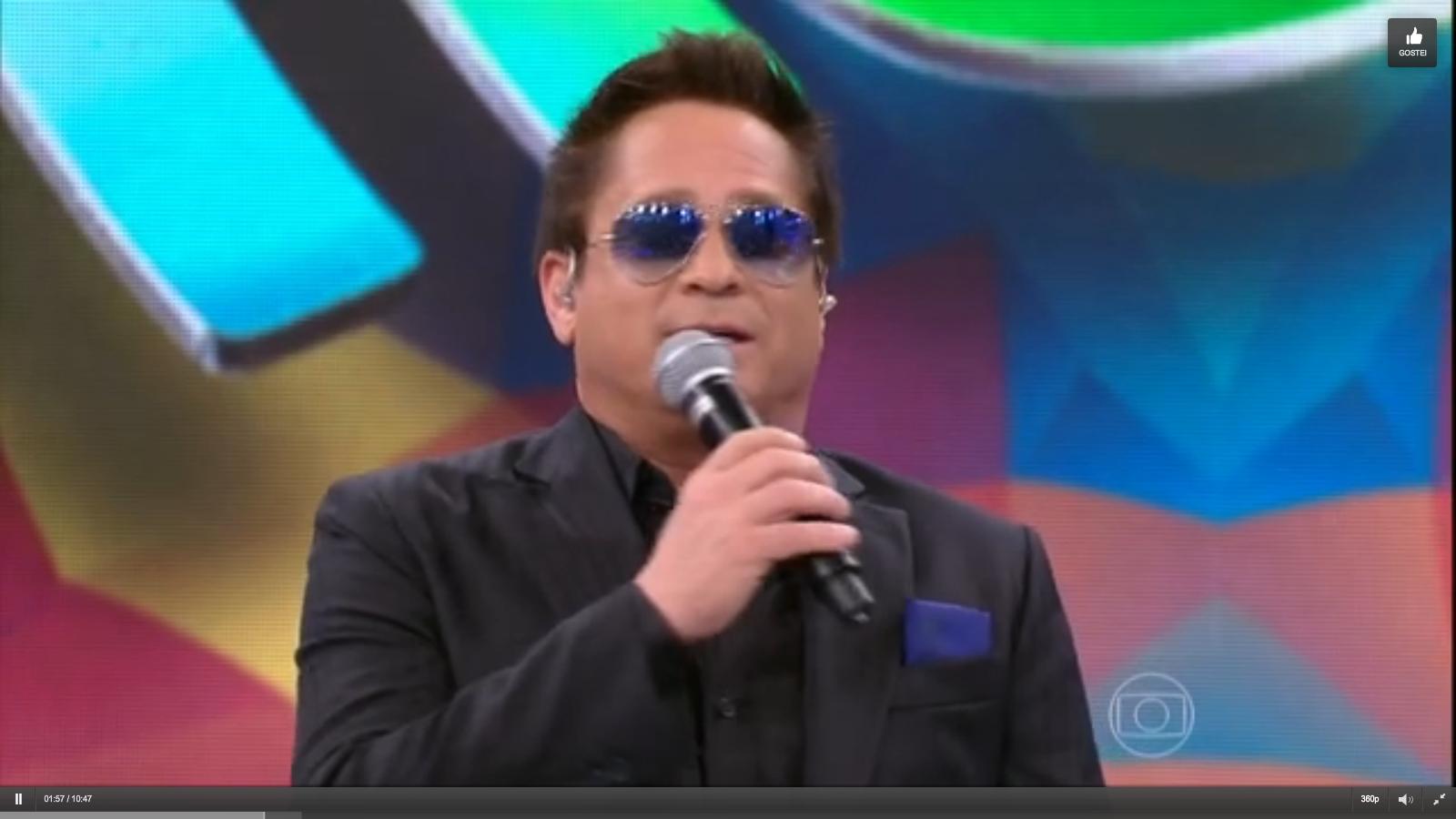 Leonardo Eduardo  Costa no programa domingão Faustão 12/0 7/2015