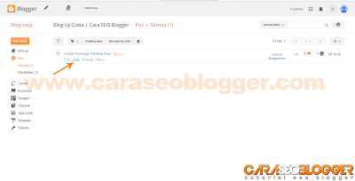 Cara Posting di Blog Blogger / Blogspot - 6