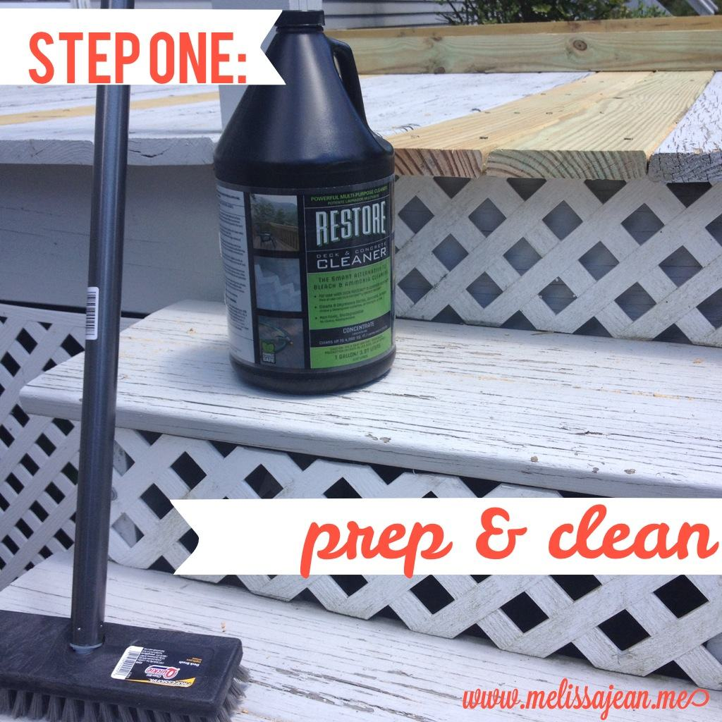 Jemstaa rustoleum deck restore project and review for Revive deck cleaner