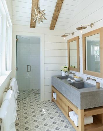 Peonies brass tile files bringing back encaustic for Spanish tile bathroom floor