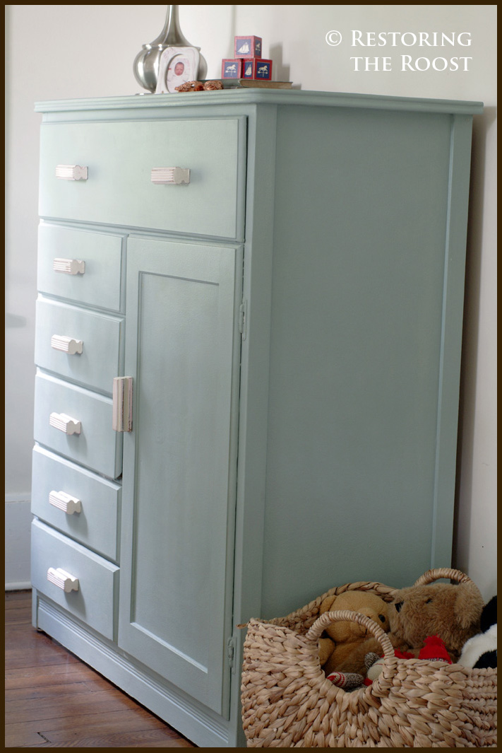 Restoring The Roost Vintage Children S Armoire Makeover