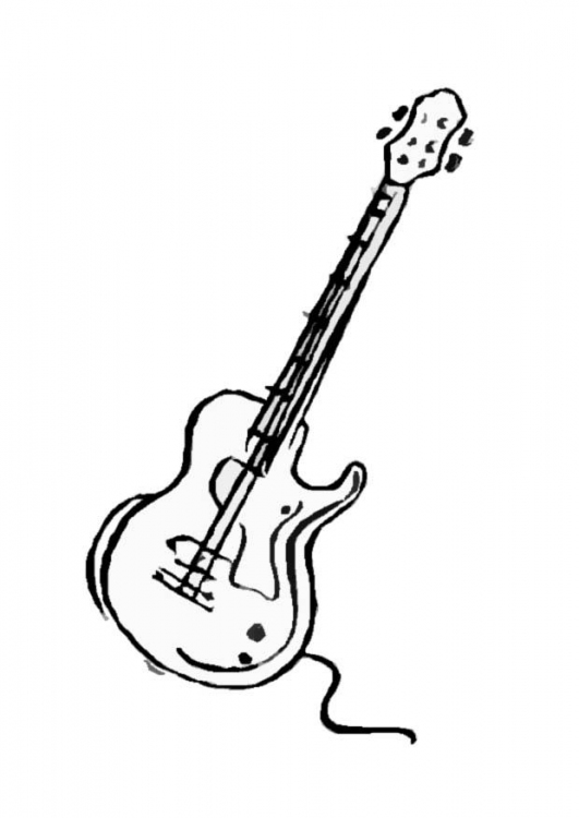 guitars coloring pages ideas