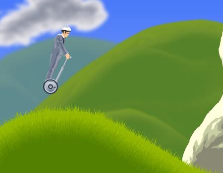 Jogos de corrida, habilidade, sobrevivência: Happy Wheels.