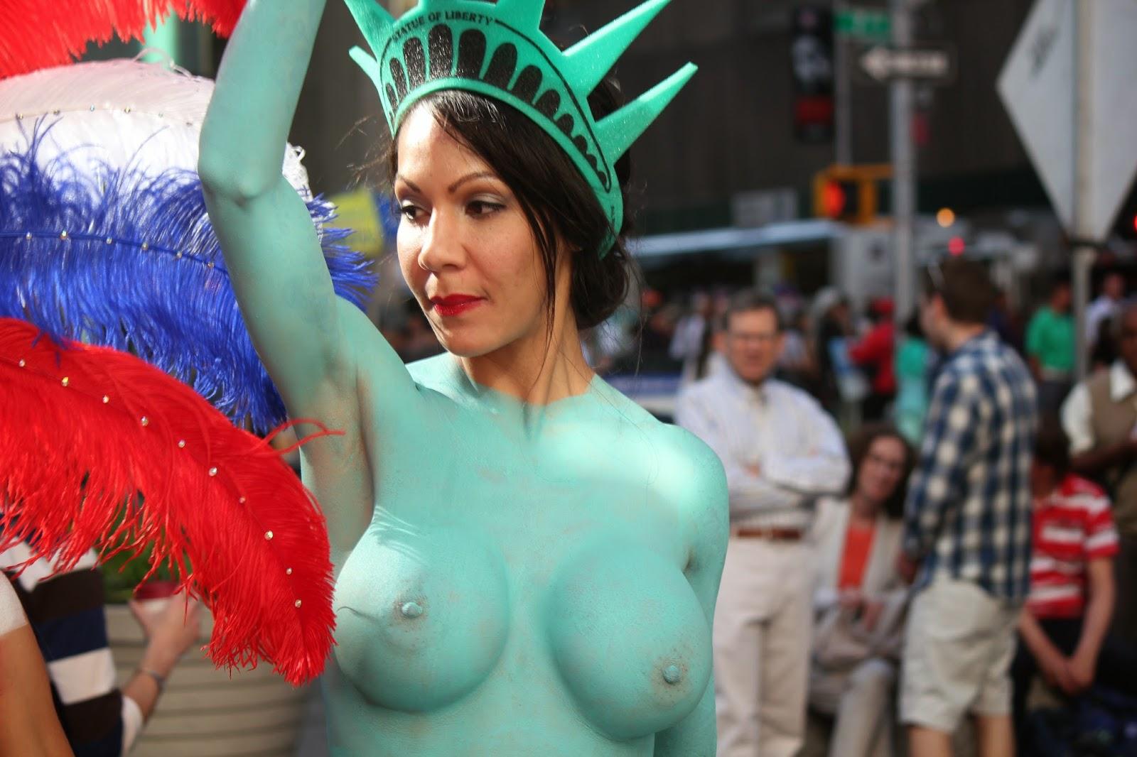 pintura corporal - Estatua de la Libertad