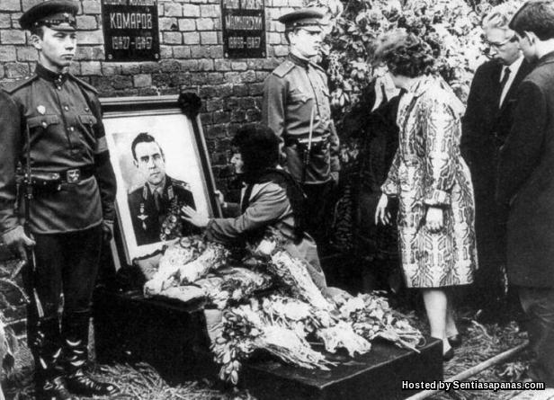 Vladimir Komarov-funeral
