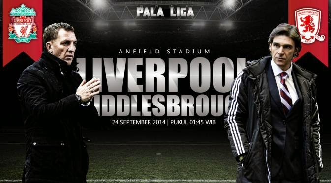 TaruhanLR : Preview Laga Capital One Cup, Liverpool Berambisi Bangkit Saat Kontra Middlesbrough