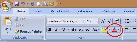ikon font color