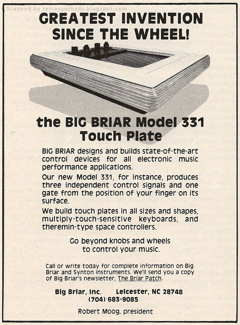 http://retrosynthads.blogspot.ca/2014/01/big-briar-inc-model-331-touch-plate.html