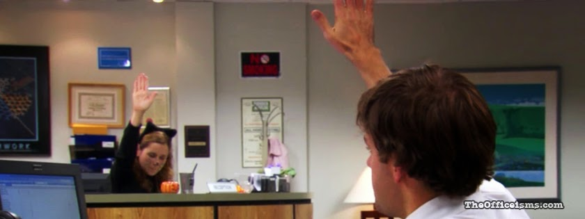 Jim And Pam High Five The Office Facebook Cover Photo