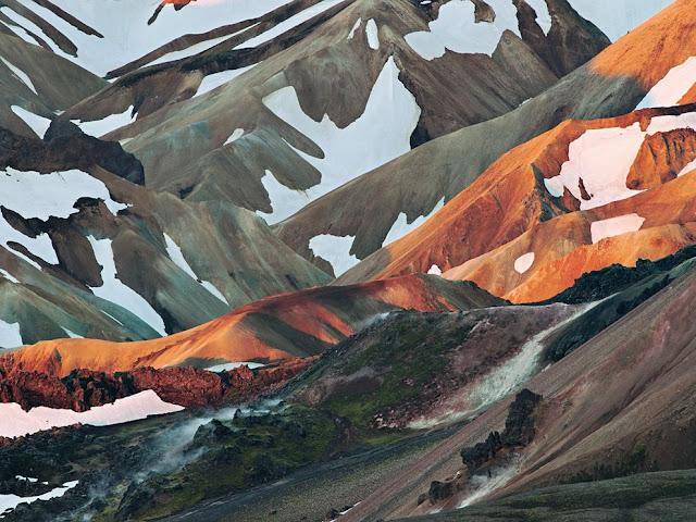 Uma linda imagem Landmannalaugar, Islândia