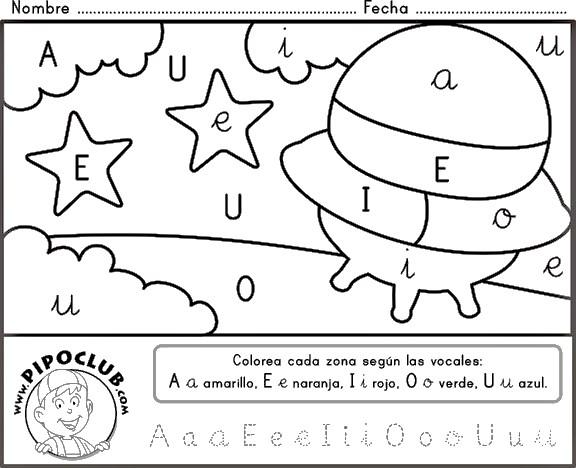 Ejercicios de vocales para colorear imagui for Aeiou el jardin de clarilu mp3