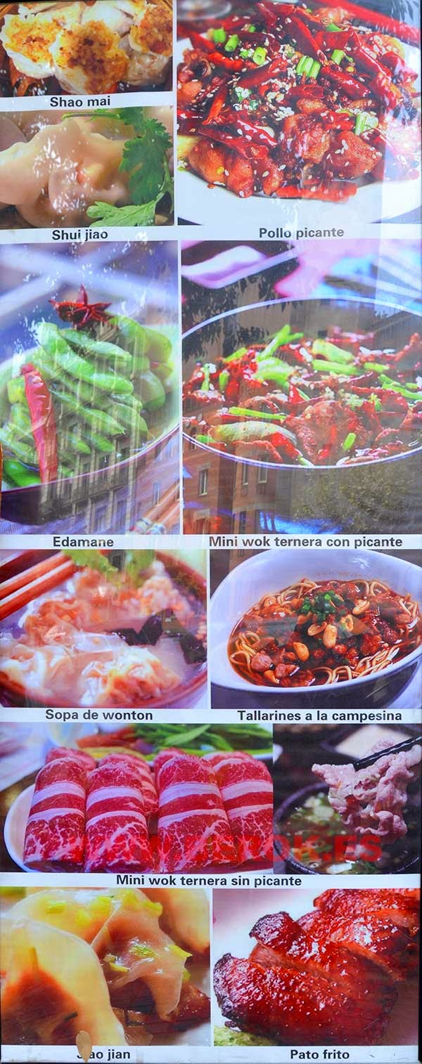Único restaurante chino con comida auténtica de china