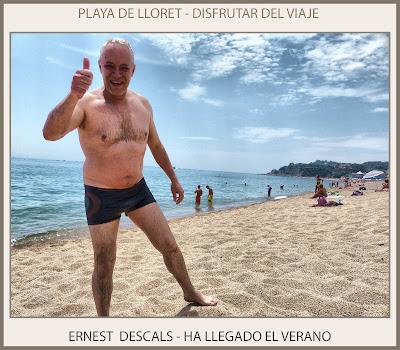 PLAYA-LLORET DE MAR-VERANO-DISFRUTAR-PLAYAS-FOTOS-PINTOR-ERNEST DESCALS-