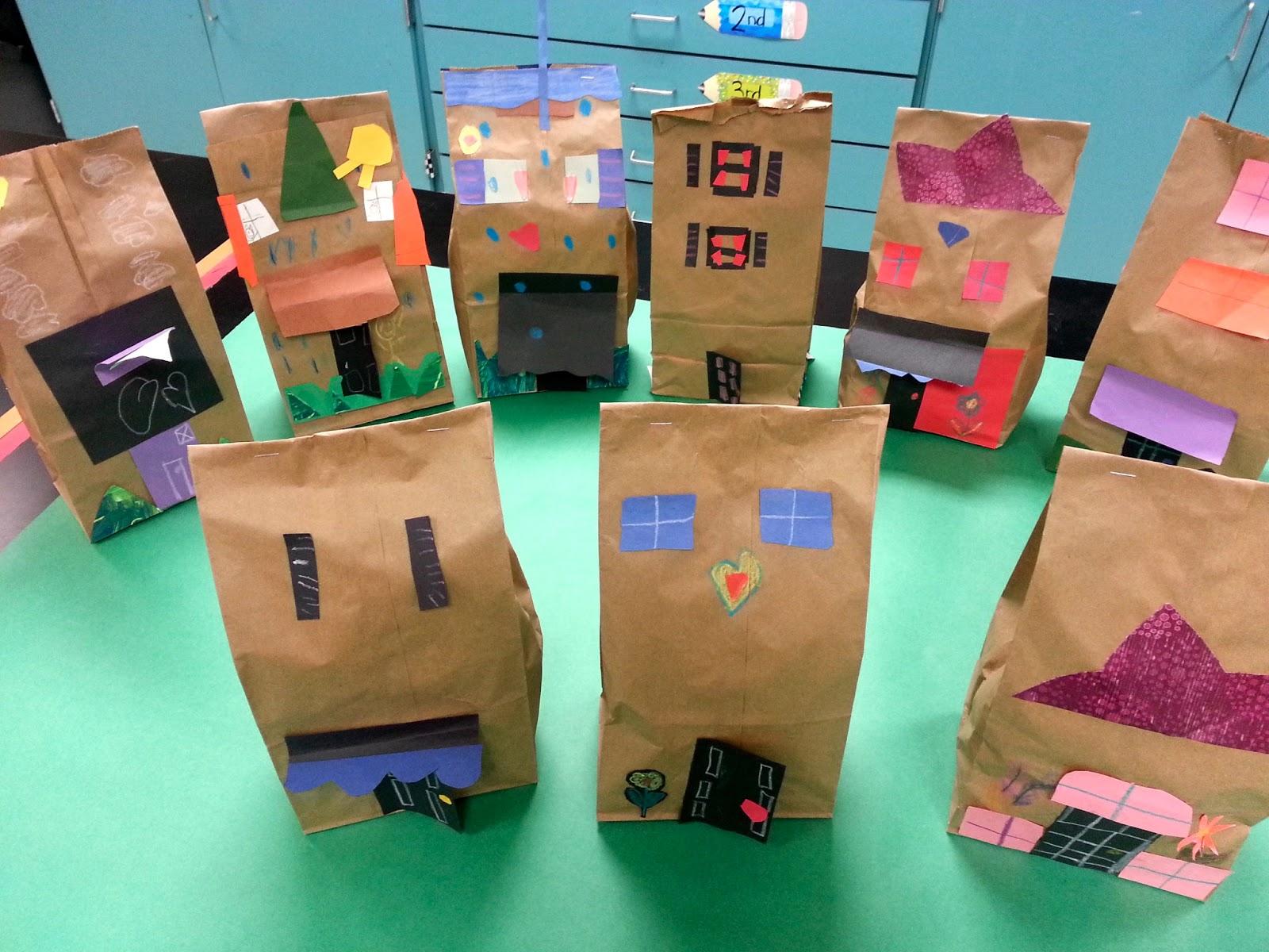 Paper bag building - Teacher Sample