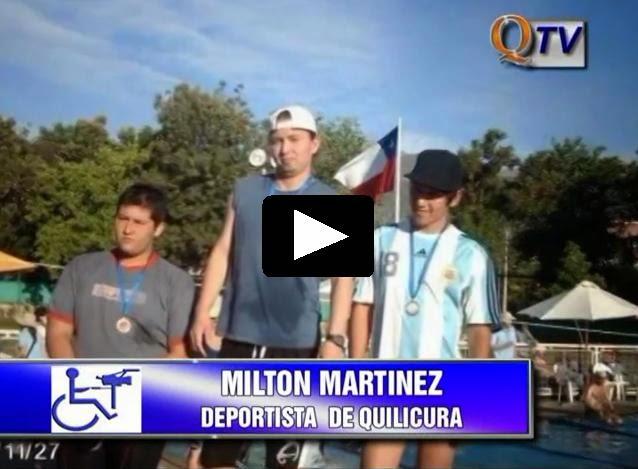 MILTON MARTINEZ, SELECIONADO NACIONAL PARALÍMPICO DE NATACIÓN