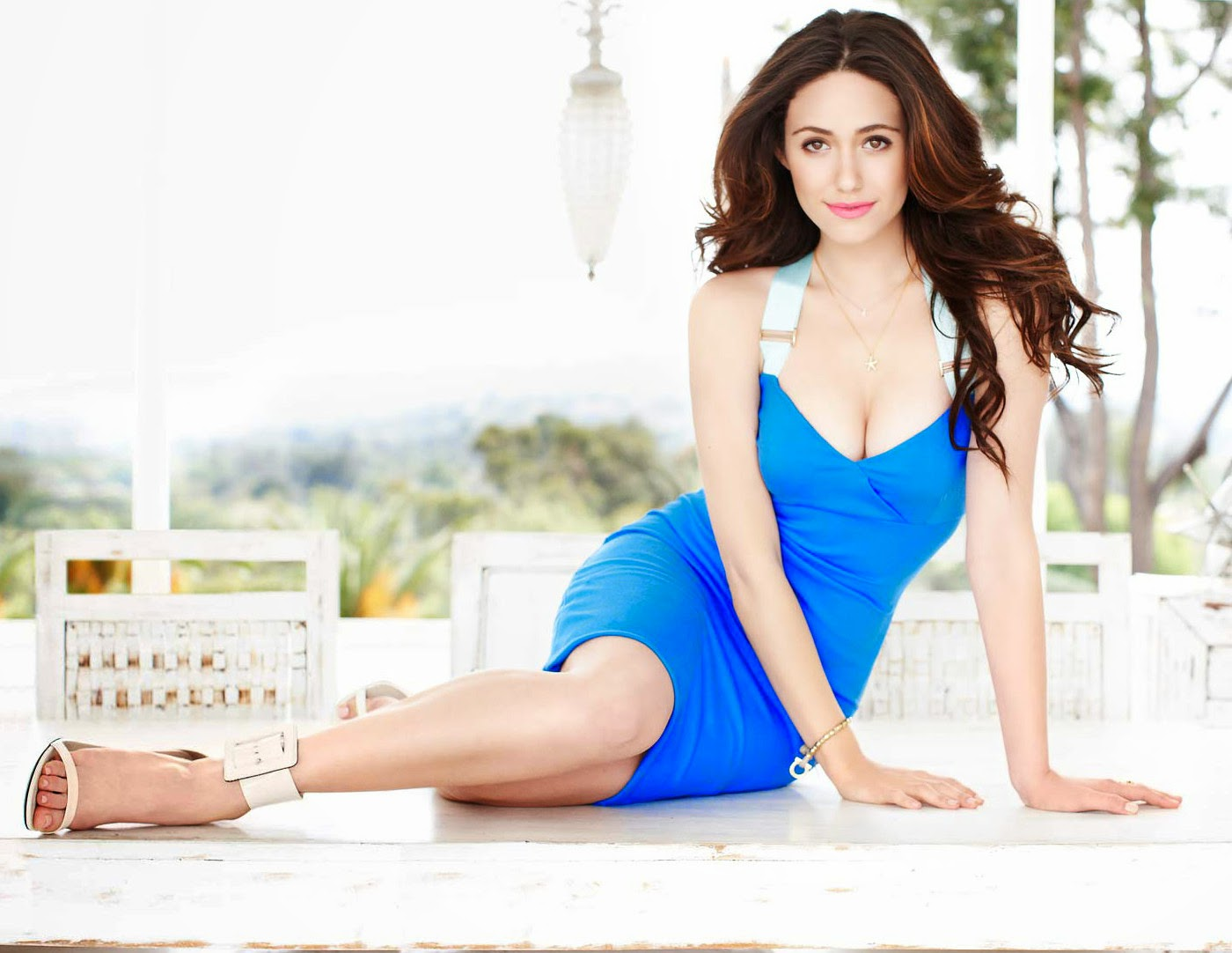 Emmy Rossum Beautiful in Blue