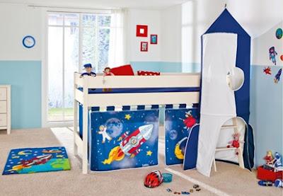 cama alta estación espacial