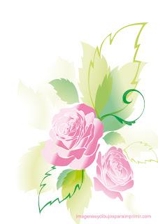 Rosasde primavera  Rosas rosas para imprimir