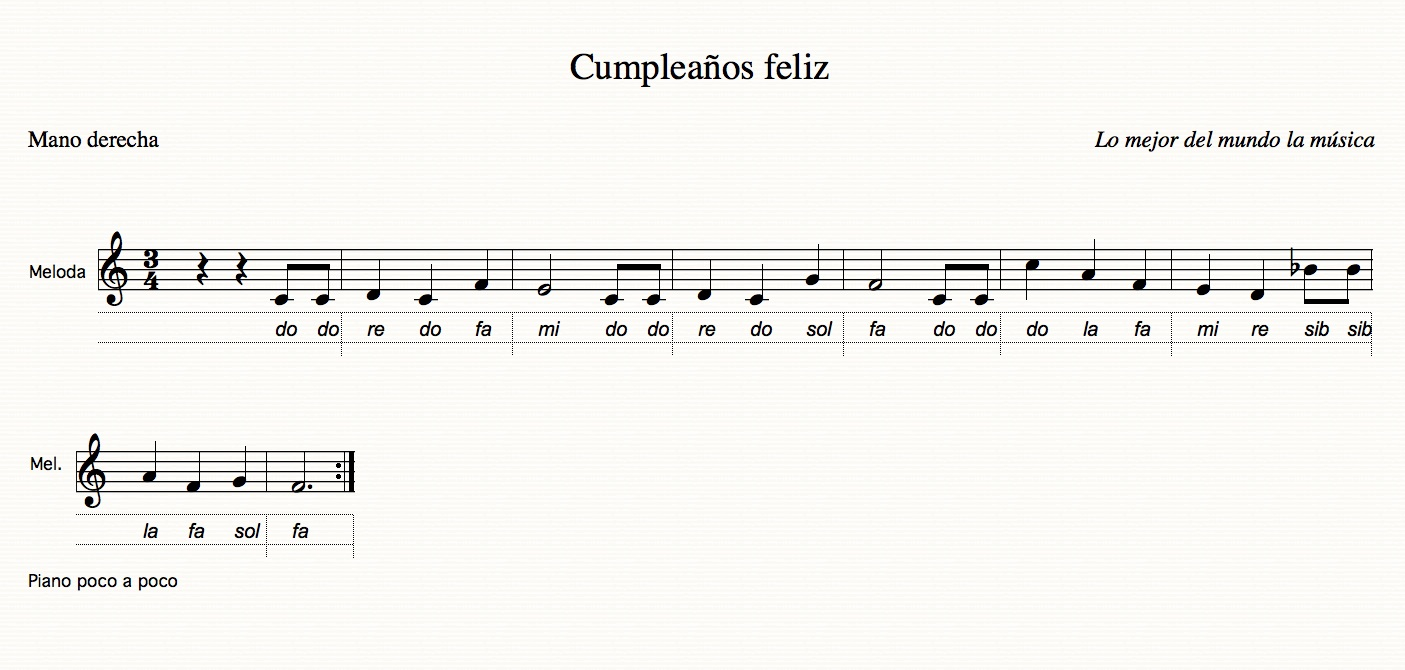 Curso piano y flauta guitarra y la d practicar mano derecha con melod as conocidas - Cumpleanos feliz piano ...