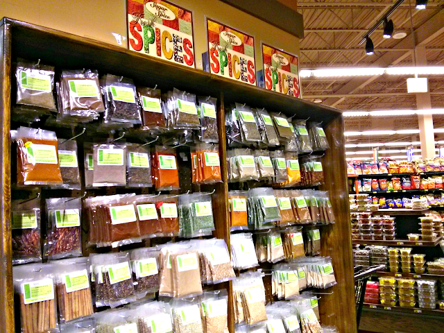 shopping for spices at Mariano's