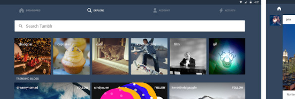 Tumblr Android app