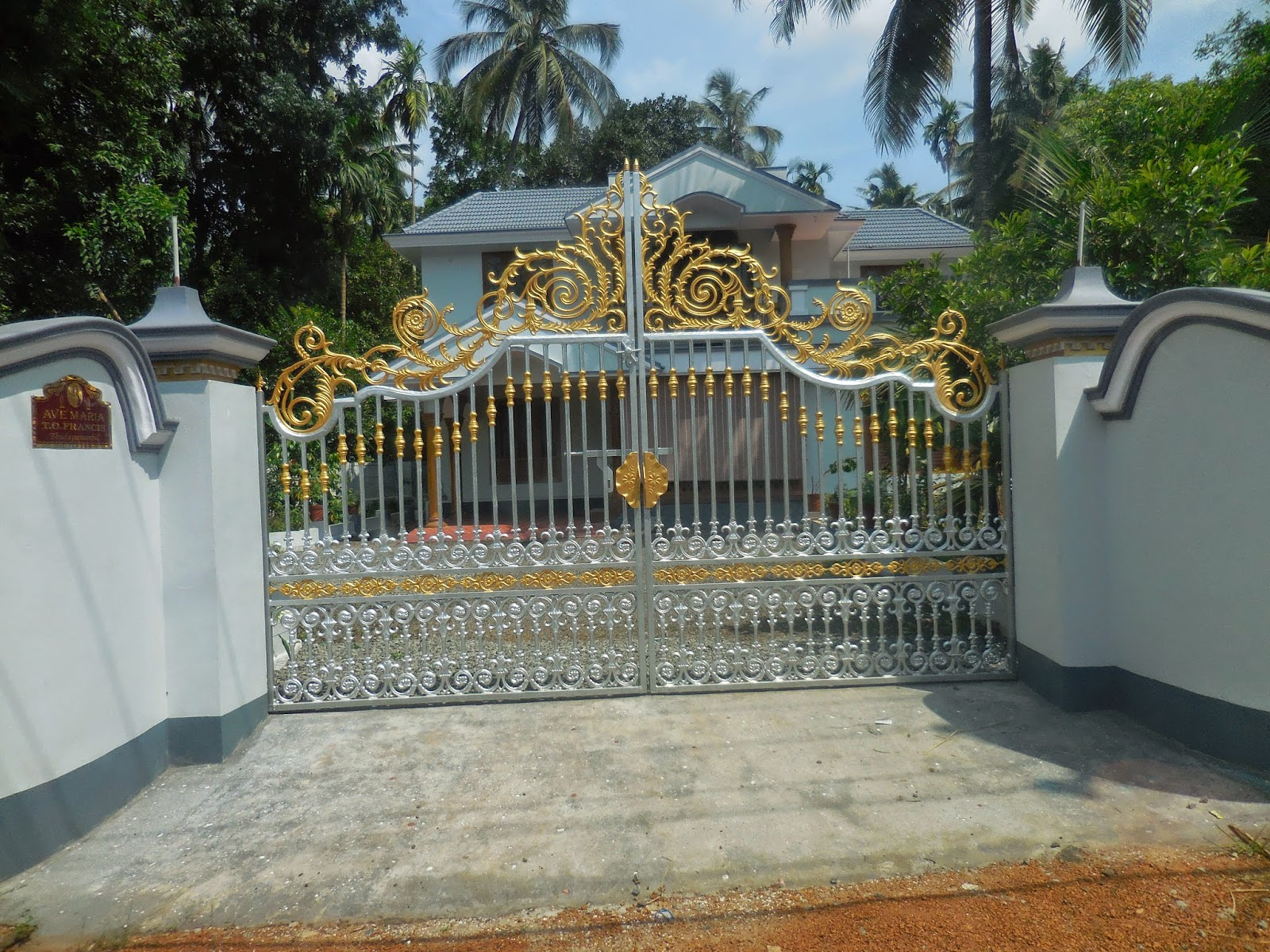 ... thrissur district kerala kerala house gate gate house in kerala