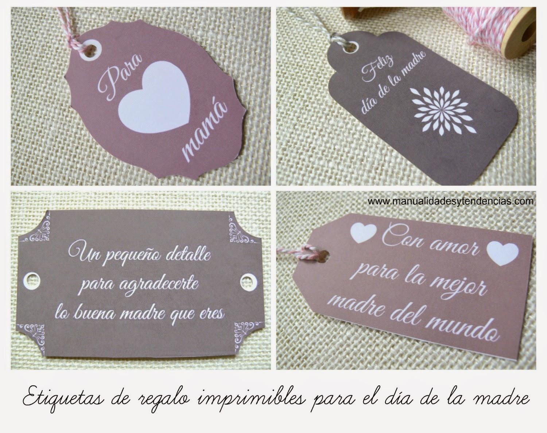 Etiquetas de regalo para el día de la madre gratis