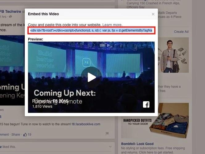 Cách nhúng video trên Facebook vào website