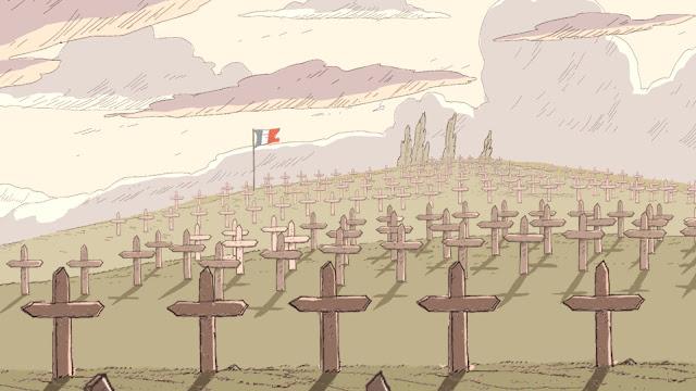 Túmulo de soldados franceses.