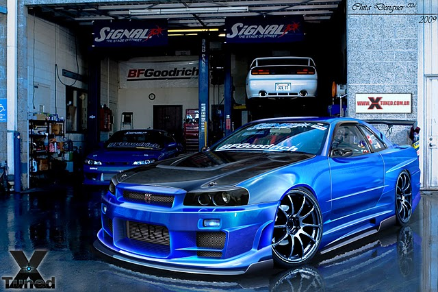 New keren: ModifiCation Car Nissan Skyline GTR R34