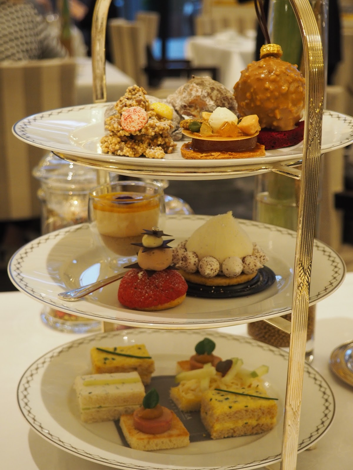 Peninsula Hotel, Paris, Afternoon Tea, cakes and sandwiches