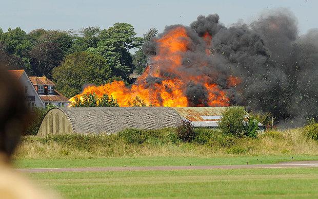 A Hawker Hunter caiu em Shoreham