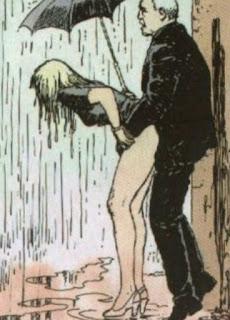 orgasmo bajo el paraguas