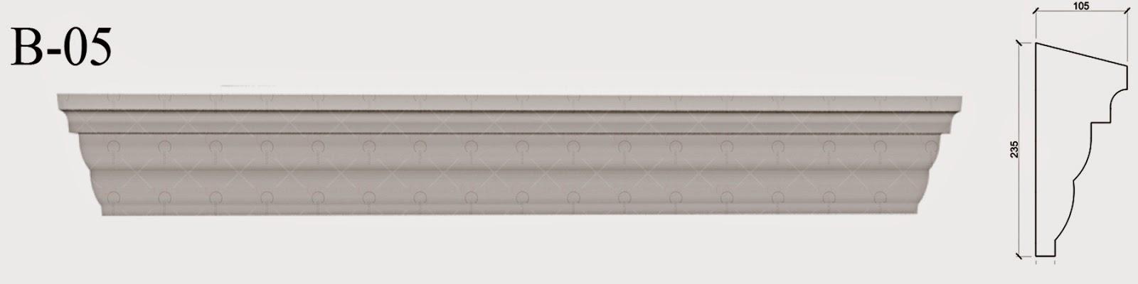 Brau - Profile Decorative penrtu fatade Case. modele, imagini, pret