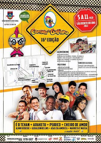 FESTA DA CORRIDA A GALINHA 2013 EM SÃO BENTO DO UNA