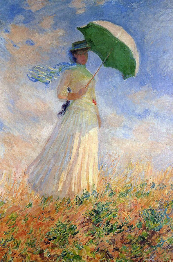 Woman with a Parasol, Facing Right by Claude Monet at Monetalia.com