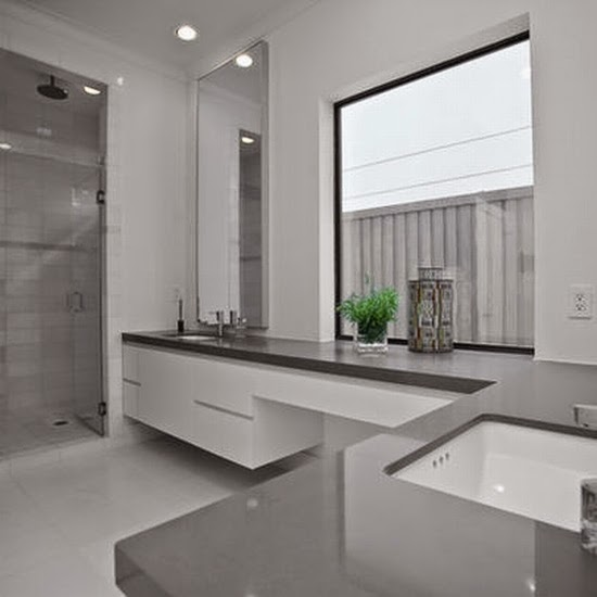 Bathroom Grey and White