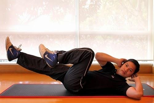 động tác tập luyện cơ bụng