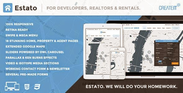 ESTATO. Responsive Featured Real Estate HTML theme