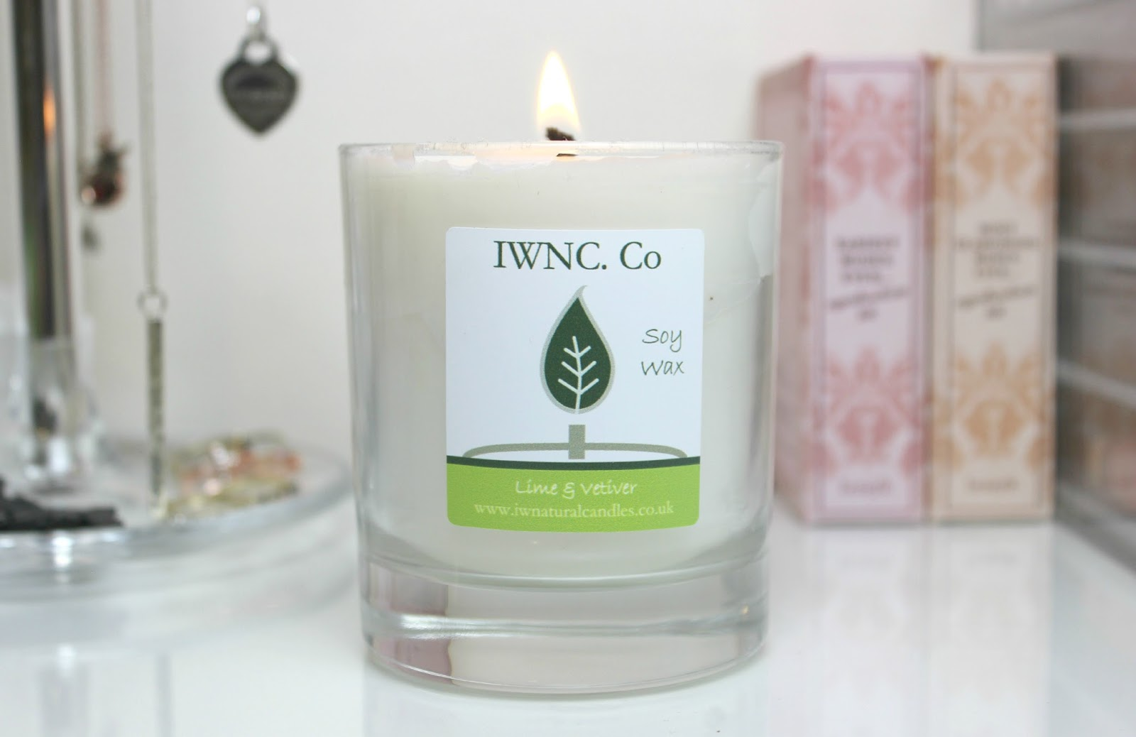A picture of Isle of Wight Natural Candle Co. Lime & Vetiver