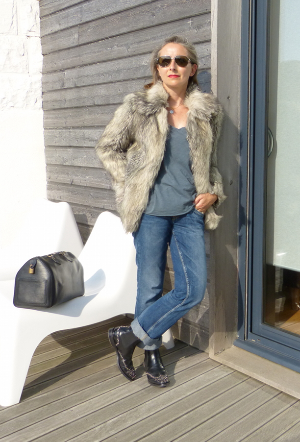 veste faux fur asos - speedy 30 cuir épi noir vuitton - boots church ketsby metal
