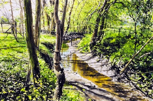 06-Lady-Elaners-Brook-Joe-Francis-Dowden-Photo-Realistic-Watercolour-Paintings-www-designstack-co