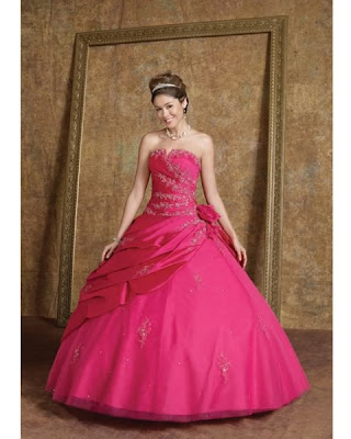 Hot pink wedding gowns irresistible