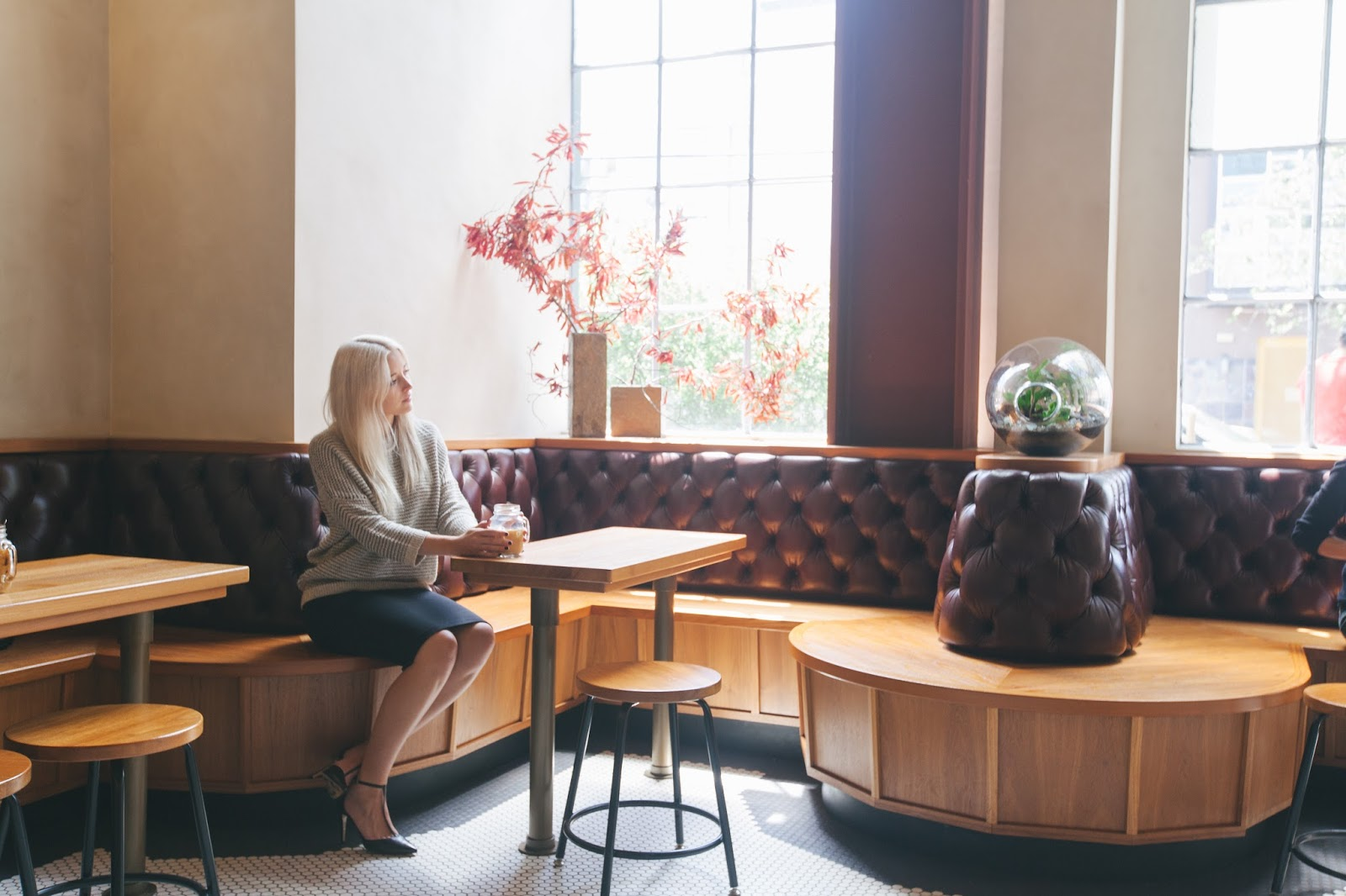 sight glass coffee interior, coffee shop interior