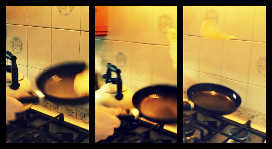 Pancake Day - Flipping a Pancake