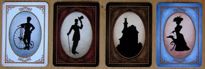 Last Will - The Card Backs for the 4 main decks of cards: Events, Helpers and Expenses, Properties and Companions